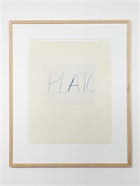 five greek poets and a philosopher - plato by cy twombly