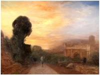 j.m.w. turner, arch of costantine, rome 1835 by hiroyuki masuyama