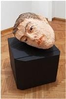 male head by stephan balkenhol
