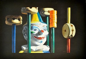 tinker toys and clown by charles bell
