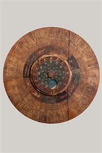 a large volvelle astronomical calendar by unknown