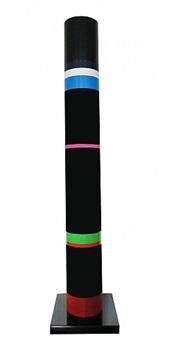 colonne annelée noire (cylindres polychromes) by guy de rougemont