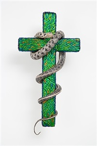 cross with a snake by jan fabre