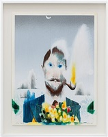 man with flowers and pipe #2 by barnaby furnas