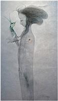 muchacha conversando con un grillo by pedro pablo oliva