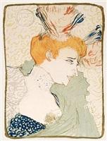 mademoiselle marcelle lender, en buste by henri de toulouse-lautrec