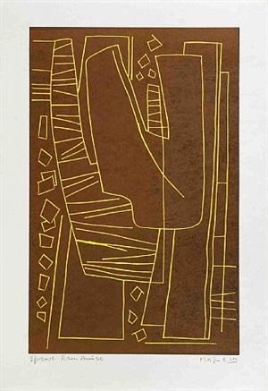 untitled ii (fond brun) by alberto magnelli