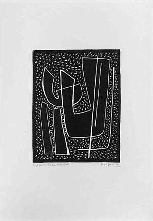 untitled i (fond noir) by alberto magnelli