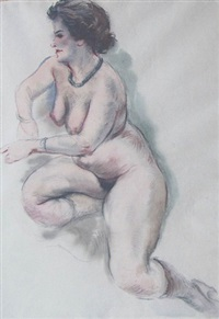 nude with necklace by george grosz