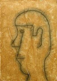 perfil sobre estuco by rufino tamayo
