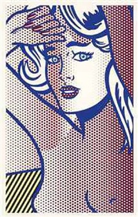 nude with blue hair, state i (from nudes series) by roy lichtenstein