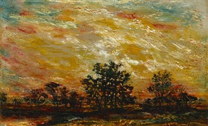 fire in the sky by ralph albert blakelock
