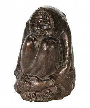 frierende alte / freezing old woman by ernst barlach