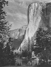 el capitan, yosemite national park, california by ansel adams