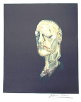 study after a life mask of william blake by francis bacon