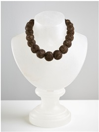 hair necklace (alabaster) by mona hatoum