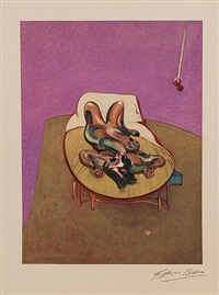 figure on a bed by francis bacon