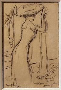 femme au chapeau by kees van dongen