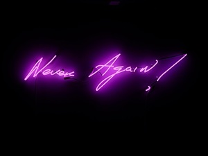 never again! by tracey emin