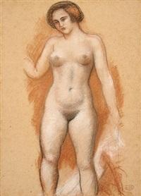 femme nue debout vue de face by aristide maillol