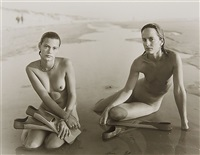 fanny et maia, montalivet, france by jock sturges