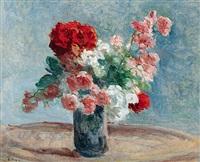 vase de fleurs by maximilien luce
