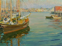 harbor scene by jane peterson