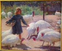 feeding the turkeys by charles courtney curran