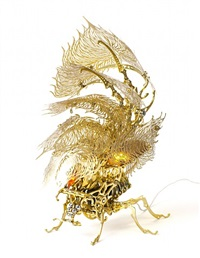 gold insecta lamp by choe u-ram