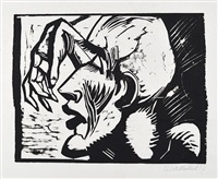 head of a slain soldier by erich heckel
