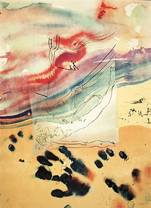 sigmund freud, moïse et le monothéisme : jehovah parts the sea by salvador dalí
