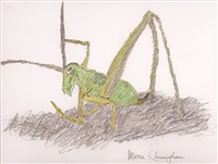 untitled (grasshopper) by merce cunningham