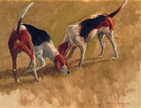 two fox hounds by henry koehler