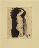 standing nude woman by käthe kollwitz