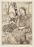 two peasant girls by paula modersohn-becker