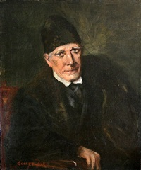 portrait of an old man by george benjamin luks