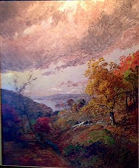 autumn greenwood lake by jasper francis cropsey