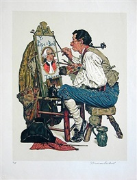 ye olde pipe and bowl by norman rockwell