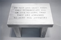 selection from survival: die fast and quiet … by jenny holzer