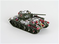 the red army russian tank arriving in berlin, encrusted in mus + fabergé jewels by karen kilimnik