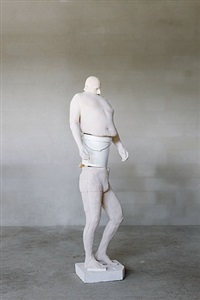 white bucket (synthesa) by erwin wurm