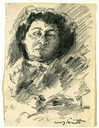 weiblicher studienkopf iii by lovis corinth