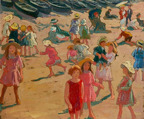 children on the beach by william samuel horton