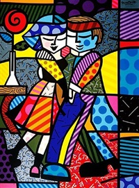 cheek to cheek by romero britto