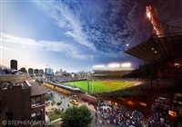 wrigley field, day to night, chicago, 2013 by stephen wilkes