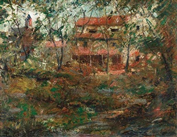 red house, sound beach by ernest lawson