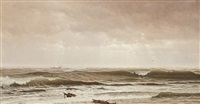 along the shore, new jersey by william trost richards