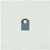 padlock-from the catalan suite ii by michael craig-martin