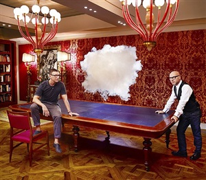 stefano gabbana and domenico dolce: iconoclouds by berndnaut smilde