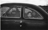 family on the road by robert frank